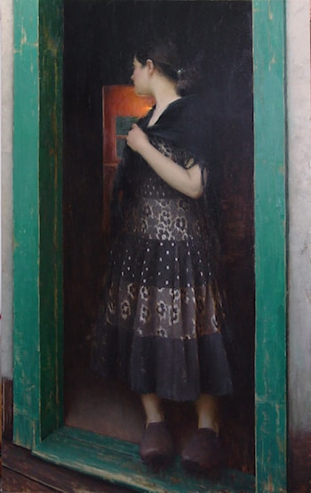 At the Door by Jeremy Lipking