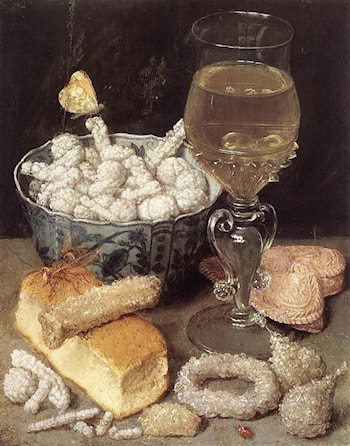 Still­Life with Bread and Confectionary by Georg Flegel