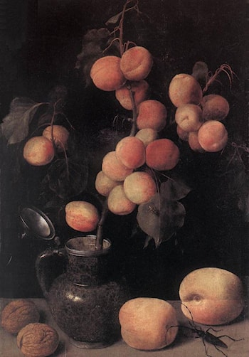 Peaches by Georg Flegel