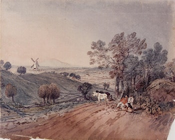 A Folio Of Figure And Landscape Drawings by George Frost