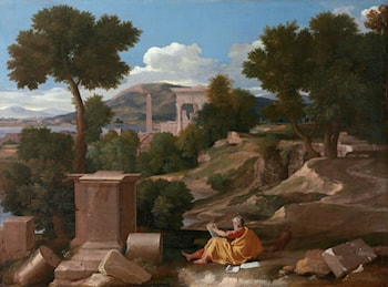 Landscape with Saint John on Patmos by Nicolas Poussin