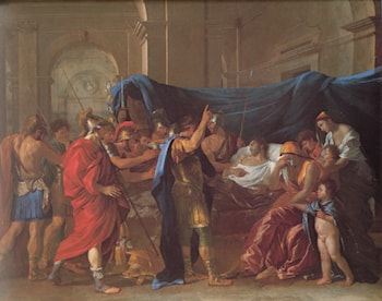 The Death of Germanicus ­ detail by Nicolas Poussin