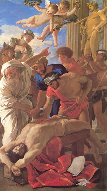 The Martyrdom of St Erasmus by Nicolas Poussin