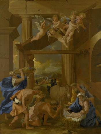 The Adoration of the Shepherds by Nicolas Poussin