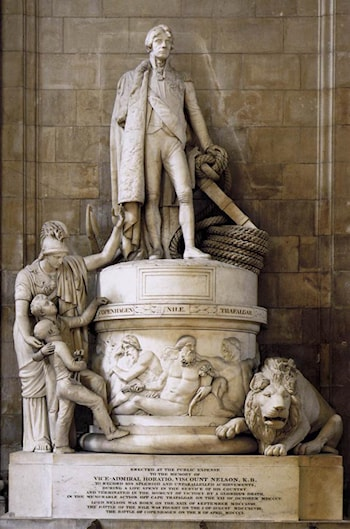 Monument to Vice­Admiral Horatio Nelson by John Flaxman
