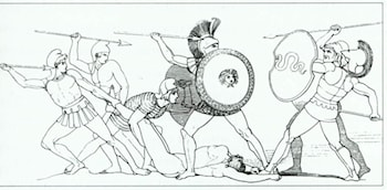 The Fight for the Body of Patroclus by John Flaxman