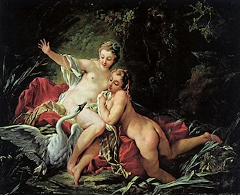 Leda and the Swan by Francois Boucher