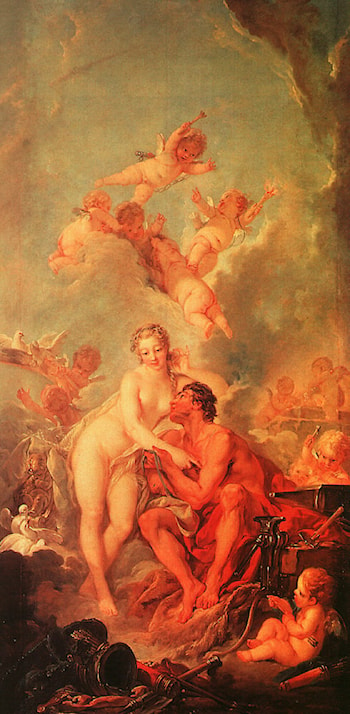 The Visit of Venus to Vulcan by Francois Boucher