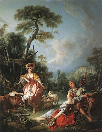 A Summer Pastoral by Francois Boucher