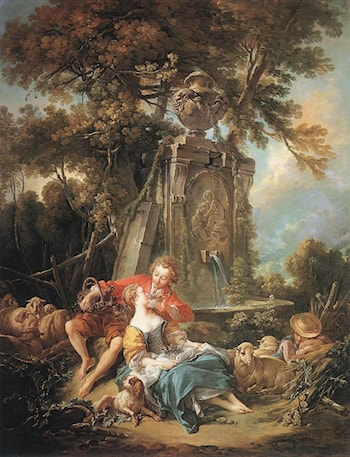 An Autumn Pastoral by Francois Boucher