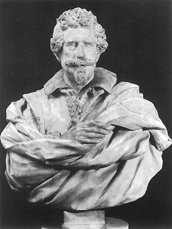 Bust of Michelangelo Buonarroti the Younger by Giuliano Finelli