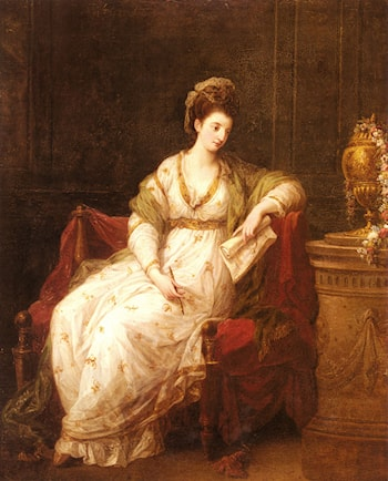 Portrait of Louise Henrietta Campbell, Later Lady Scarlett, as The Muse of Literature by Angelica Kauffmann