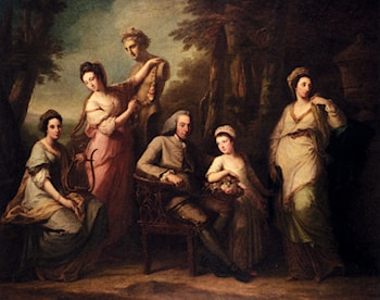 Portrait Of Philip Tisdal With His Wife And Family by Angelica Kauffmann