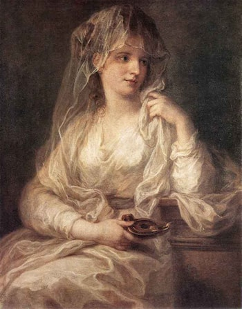 Portrait of a Woman Dressed as Vestal Virgin by Angelica Kauffmann