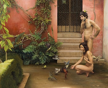 Adam and Eve in the Garden of Unawareness by Mikel Olazabal