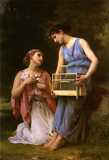 The Dove Fanciers by Elizabeth Jane Gardner Bouguereau