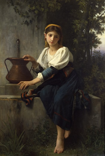 Young Girl at the Well by Elizabeth Jane Gardner Bouguereau