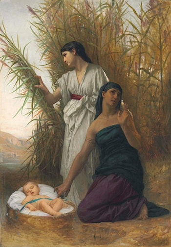 Moses in the Bulrushes by Elizabeth Jane Gardner Bouguereau