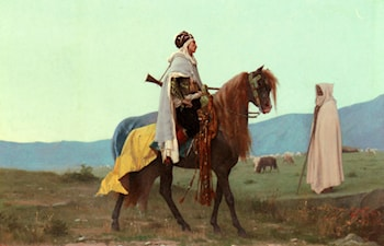 An Arab Horseman by Gustave Clarence Rodolphe Boulanger
