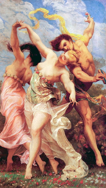 La Danse Amoureuse by Gustave Clarence Rodolphe Boulanger