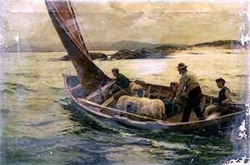 Bound for the Island Home by William Henry Bartlett