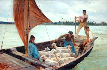 A Breezy Crossing by William Henry Bartlett