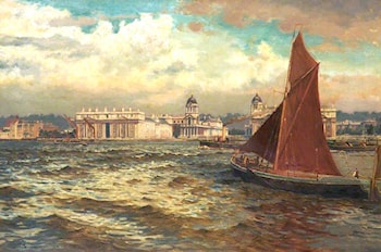 Off Greenwich, London by William Henry Bartlett