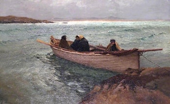 Stormbound on the Rosses, North West Donegal, Ireland by William Henry Bartlett