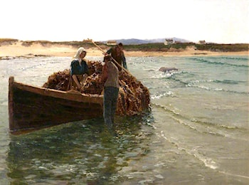 Unloading Kelp Weed by William Henry Bartlett
