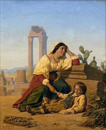 Grief by Charles Emile Hippolyte Lecomte-Vernet