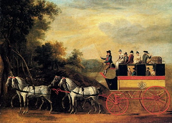The London and Taunton Omnibus on the Open Road by John Cordrey