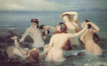 Mermaids Frolicking in the Sea by Charles Edouard Boutibonne