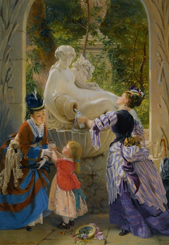 A La Fontaine by Charles Edouard Boutibonne