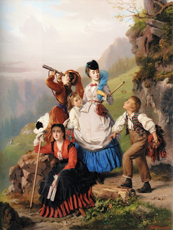 The Young Mountaineers by Charles Edouard Boutibonne