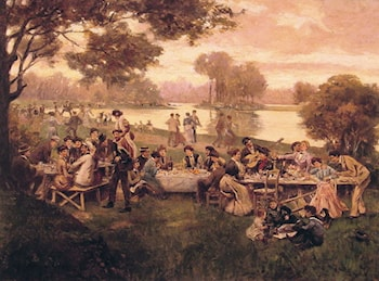 Luncheon on the grass by Carlo Brancaccio