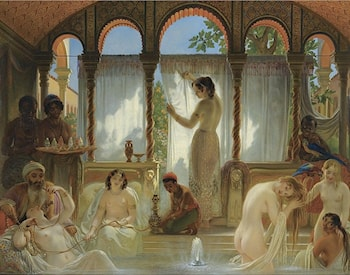 The Harem Bath by Philippe Jacques Van Bree
