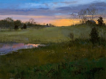 November Meadow, Sunset by Peter Fiore
