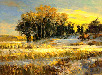 Winter Field, Late Day by Peter Fiore