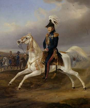 King William I of Wurttemberg on Horseback by Albrecht Adam