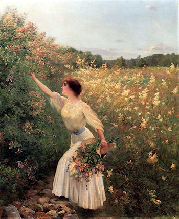 Picking Flowers by Pierre Andre Brouillet