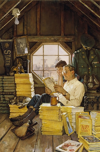 Attic Scene by James Gurney