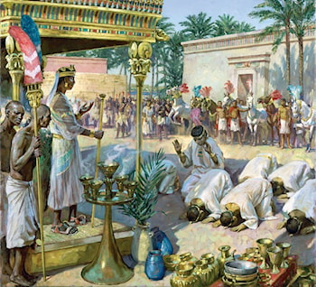 King Piye in Egypt by James Gurney