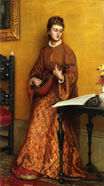 The Mandolin Player by Valentine Cameron Prinsep