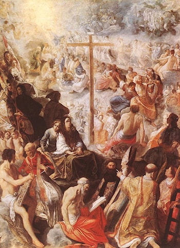 Glorification of the Cross by Adam Elsheimer