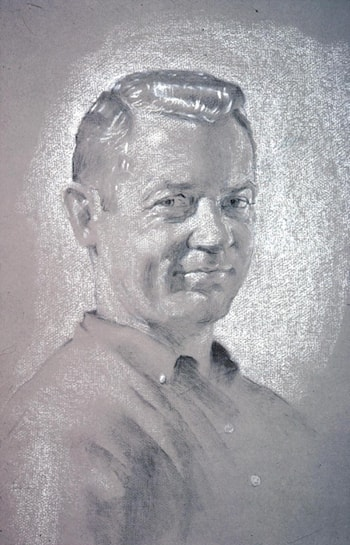 Portrait of Gene Larue by David Hardy