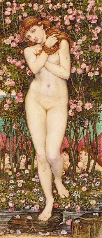 Flora and the Zephyrs by John Roddam Spencer Stanhope