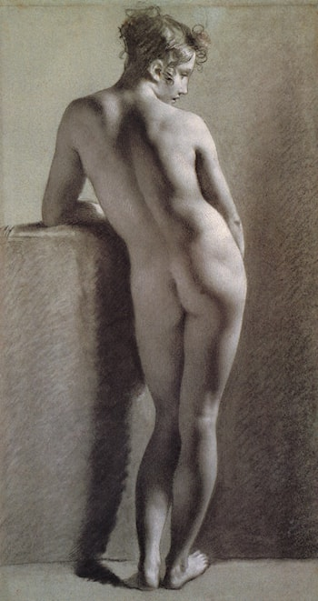 Standing Female Nude Seen from the Back by Pierre-Paul Prud'hon