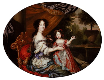 Portrait Of Barbara Villiers, Countess Of Castlemaine (1640­1709), And Her Daughter, Lady Charlotte Fitzroy, Countess Of Lichfield by Henri Gascars