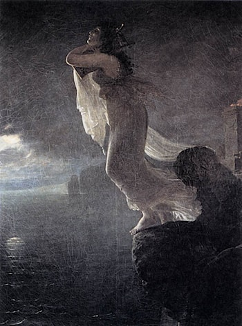 Sappho at Leucate by Antoine-Jean Gros