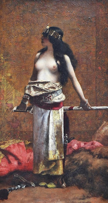 Harem Girl with Sword by Henri Alexandre Georges Regnault
